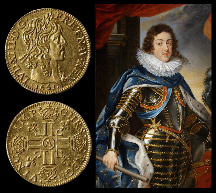 Louis XIII et ses Louis d'or