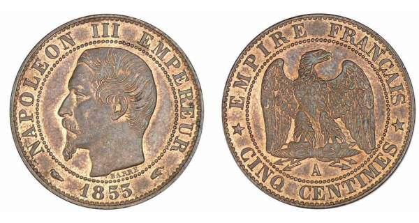 piece de monnaie napoleon 3 1855