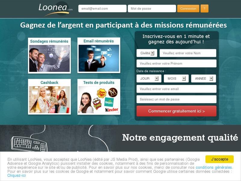 S'inscrire sur Loonea