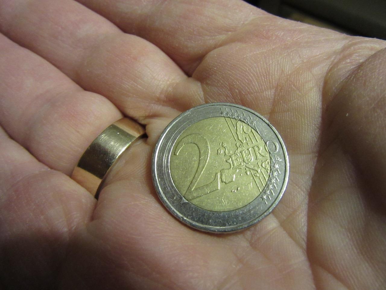 1 ou 2 euros en argent de poche par semaine