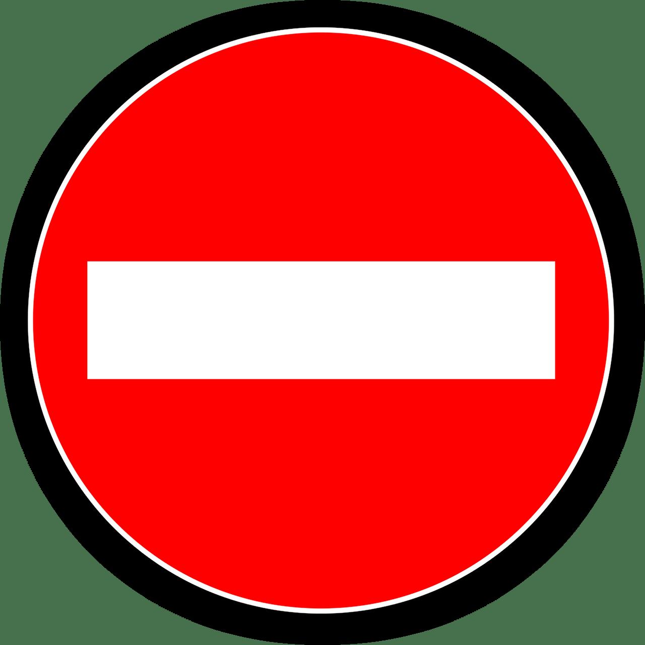 Sens interdit