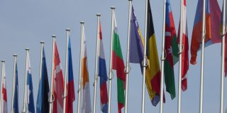Drapeaux européens à Strasbourg
